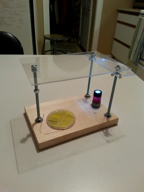 Picture:  digital microphone hack assembled.