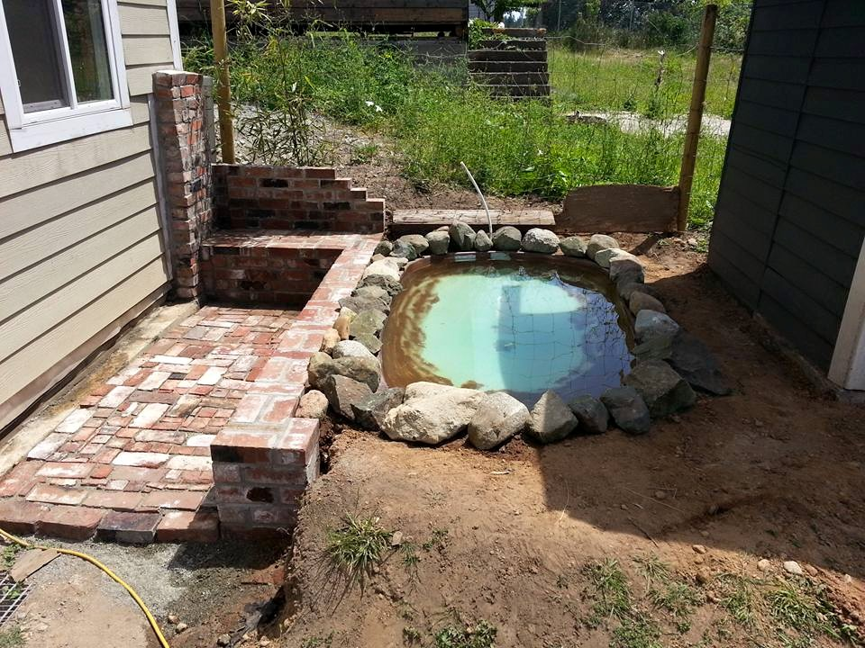 This pool was beside the house, but it had to be moved.