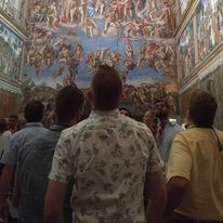 Restored Sistine Chapel cieling.